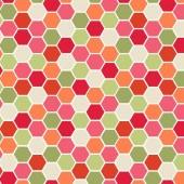 Tela Roja y Verde Hexágonos