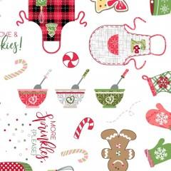 Tela Blanca Repostería Navidad