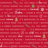 Tela Roja Frases Repostería Navidad