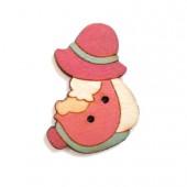 Botón Sunbonnet Rosa
