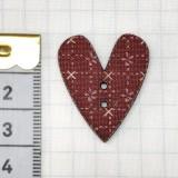 Botón Corazón Burdeos