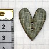 Botón Corazón Teal Cuadrícula
