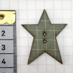 Botón Estrella Teal Cuadrícula