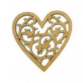 Botón Corazón Adornos