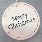 Cartel de Madera Merry Christmas