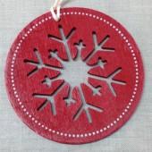 Copo de Nieve de Madera Rojo