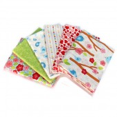 Lote de Telas Lovebirds - 6 Fat Quarters