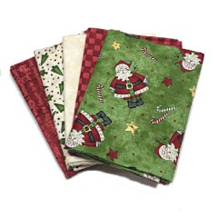 Lote de Telas Just Be Claus - 5 Fat Quarters