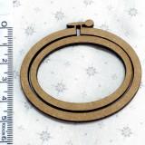 Bastidor Ovalado Decoración 6 cm x 5 cm