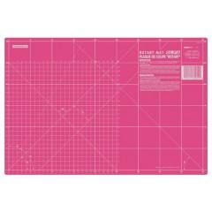 Base de Corte Rotativa Rosa Olfa 45 cm x 30 cm