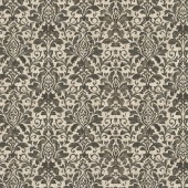 Mocha Brown French Damask  Fabric