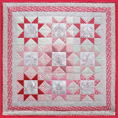 Patrón Little Patchwork Village Wall Quilt | Mi Casita de Patch ...