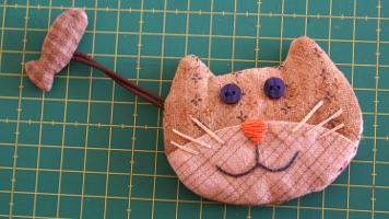 Tutorial de patchwork Llavero de Gato